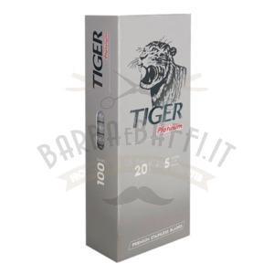 Lamette da Barba Tiger Platinum 1 Stecca 100 Lame