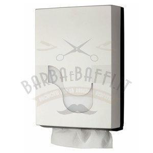 Dispenser per Asciugamani piegati a C e a Z MegaMini Bianco