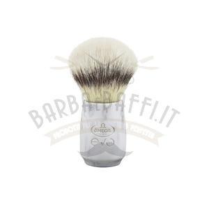 Pennello da Barba Fibra Sintetica Omega EVO Marble Ovale E1855