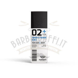 Wash e Shave 3 in 1 Hairways 02 100 ml