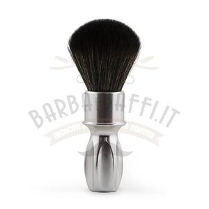 Pennello da Barba Syntetic Silver Noir  Plissoft Razorock 24 mm