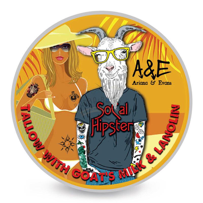 Sapone da Barba Socal Hipster Arieana e Evans 118 ml