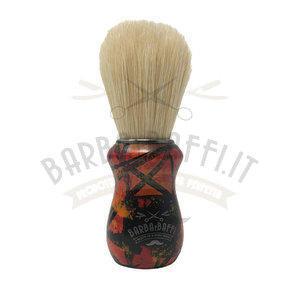 Pennello da Barba Barbaebaffi Manico Decorato GMP Setola Sbiancata