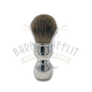 Pennello da Barba Manico Alluminio Misto Tasso Maiale Extro