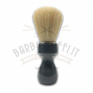 Pennello Barba Manico Grigio Fumo Setola Sbiancata Zenith 507GF PP21