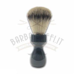 Pennello Barba Manico Grigio Fumo Ciuffo Syntetic Zenith 507GF PP21