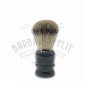 Pennello Barba Manico Grigio Fumo Ciuffo Setola Synt Zenith 508GF PP21