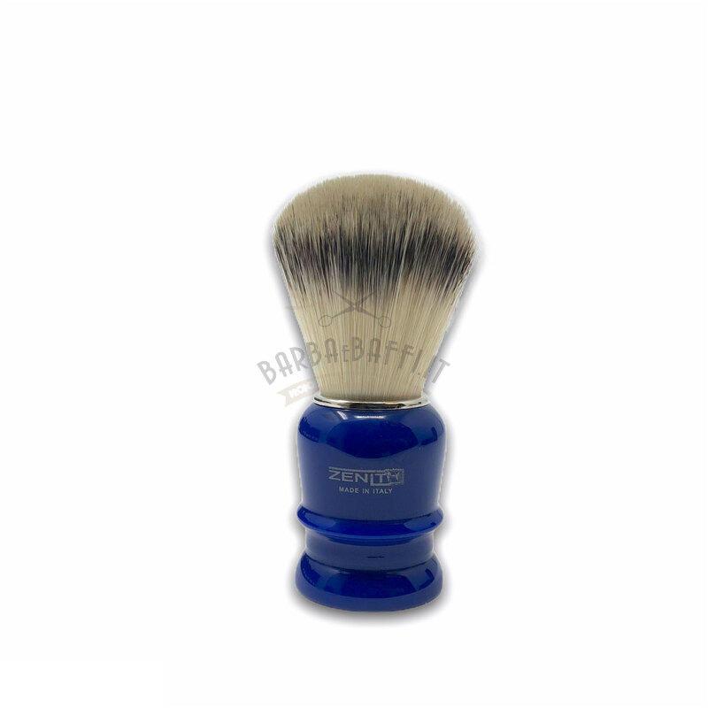 Pennello Barba Manico Blu Genziana Setola Synt Zenith 508BG PP21