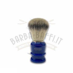 Pennello Barba Manico Blu Genziana Ciuffo Setola Synt Zenith 508BG PP21
