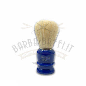 Pennello Barba Manico Blu Genziana Setola Sbiancata Zenith 508BG PP21