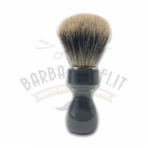 Pennello Barba Manico Grigio Fumo Ciuffo Manchurian Zenith 507GF PP21