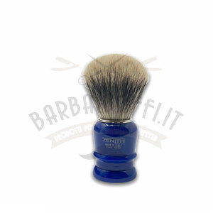 Pennello Barba Manico Blu Genziana Ciuffo Manchurian Zenith 508BG PP21