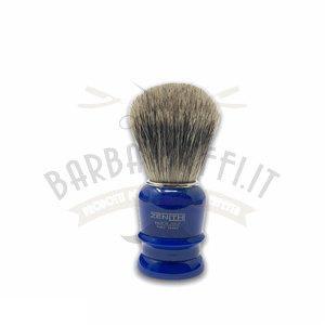 Pennello Barba Manico Blu Genziana Ciuffo Best Badger Zenith 508BG PP21