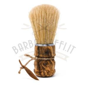 Pennello da Barba Manico Olivo Setola Maiale Kigi Barbaebaffi