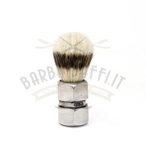 Pennello da Barba Manico Dado Metallo Setola Maiale Kigi Barbaebaffi